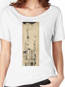 Egon Schiele - Standing Girl  Women's Relaxed Fit T-Shirt