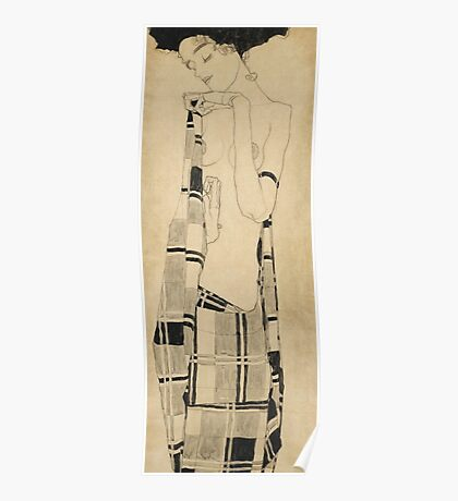 Egon Schiele - Standing Girl  Poster