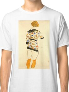 Egon Schiele - Standing Woman in a Patterned Blouse (1912)  Classic T-Shirt