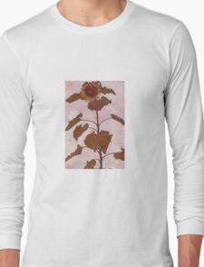Egon Schiele - Sunflower 1909 Long Sleeve T-Shirt