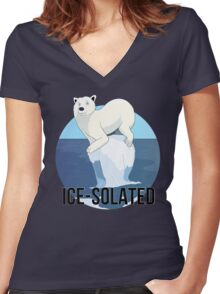 Ice-solated Women's Fitted V-Neck T-Shirt