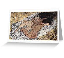 Egon Schiele - The Embrace 1917 Greeting Card