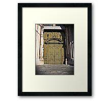 A Door Closes in Cremona Framed Print