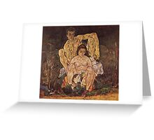 Egon Schiele - The Family 1918 Greeting Card