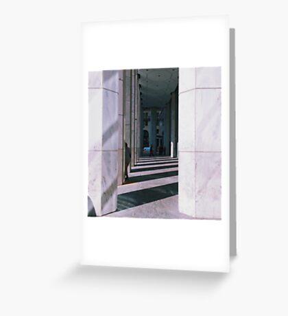 Column Shadows Greeting Card
