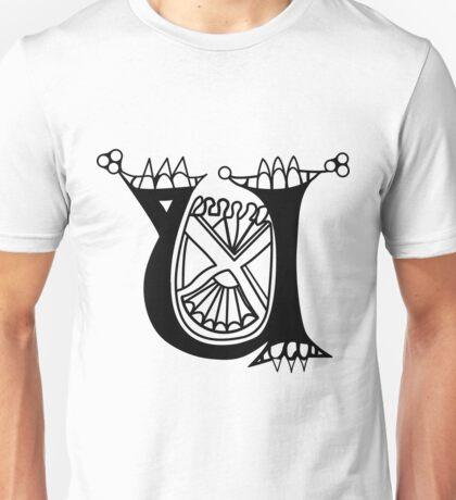Kells Letter U Unisex T-Shirt