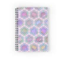 Melting Ice Cream Popsicle Symmetry Pattern Pink Spiral Notebook
