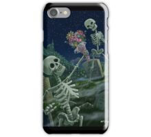 Romantic Valentine Skeletons in Graveyard iPhone Case/Skin