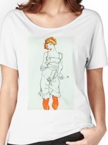 Egon Schiele - Woman in Underclothes and Stockings (Wally Neuzil) (1913)  Women's Relaxed Fit T-Shirt