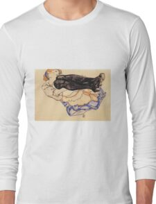 Egon Schiele - Woman With Blue Stockings 1912 Long Sleeve T-Shirt