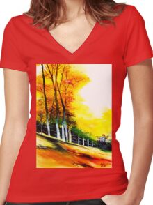 Soaring High Women's Fitted V-Neck T-Shirt