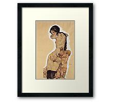 Egon Schiele - Woman With Homunculus 1910 Framed Print