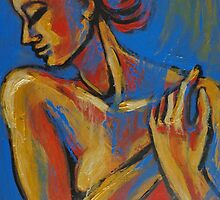 Mellow Yellow - Female Nude Portrait by CarmenT