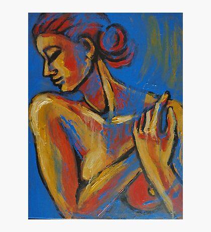 Mellow Yellow - Female Nude Portrait Photographic Print