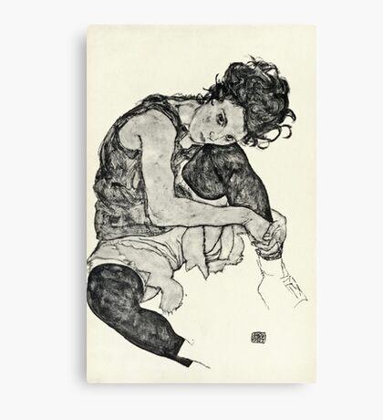 Egon Schiele - Zeichnungen I  (1917)  Canvas Print