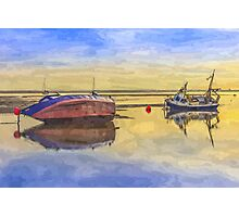 Boats in the morning Photographic Print
