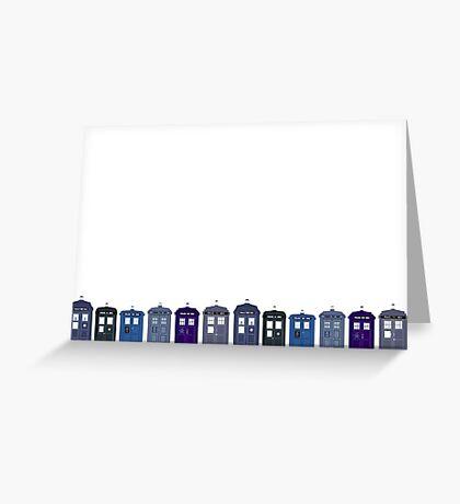 Tardis Greeting Card