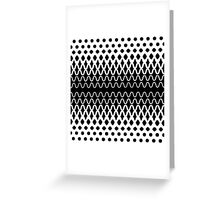 Waves into Particles Greeting Card