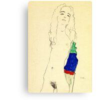 Egon Schiele -Standing Female Nude  Canvas Print