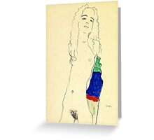 Egon Schiele -Standing Female Nude  Greeting Card