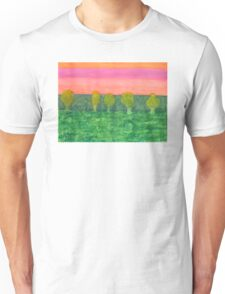 Trees, Green and Evening Sky Unisex T-Shirt