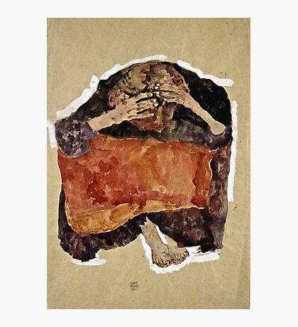 Egon Schiele -Troubled Woman  Photographic Print