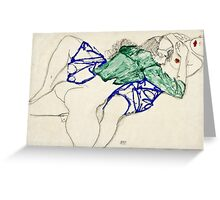 Egon Schiele -Two Friends, Reclining (Tenderness)  Greeting Card