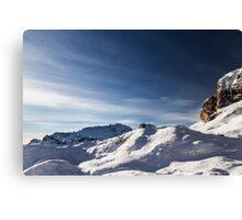 Italian Dolomiti ready for ski season Canvas Print