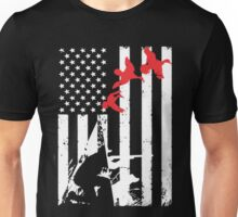 Duck Hunting Nation Flag Unisex T-Shirt