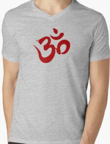 Ohm calligraphy Mens V-Neck T-Shirt