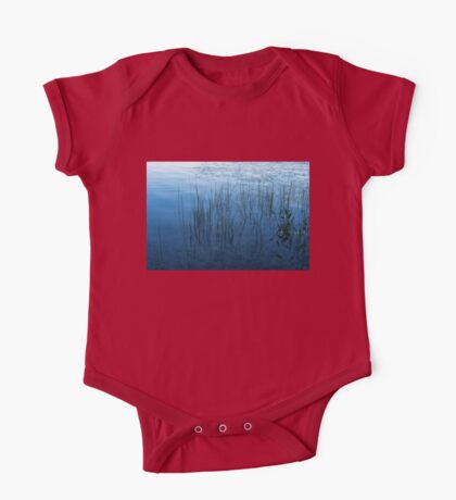 Green and Blue Serenity - Smooth Wetland Morning One Piece - Short Sleeve