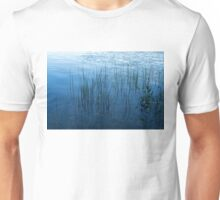 Green and Blue Serenity - Smooth Wetland Morning Unisex T-Shirt