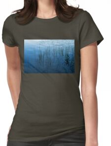 Green and Blue Serenity - Smooth Wetland Morning Womens Fitted T-Shirt