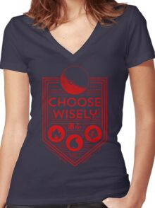 Original Trainer (Fire Red) Women's Fitted V-Neck T-Shirt