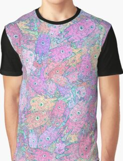 Melting Ice Cream Popsicle Random Pattern Graphic T-Shirt