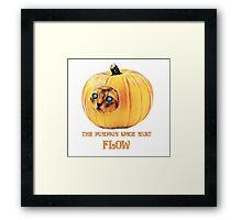 The Pumpkin Spice must flow - no border/transparent Framed Print