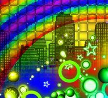 Rainbow Splash City  Sticker