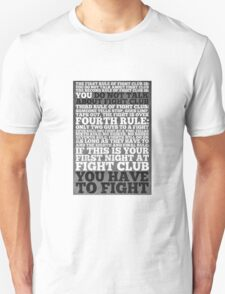 Fight Club Rules Unisex T-Shirt