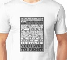 Fight Club Rules Unisex T-Shirt