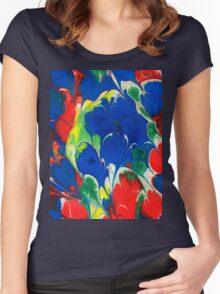 English Cottage Garden Women's Fitted Scoop T-Shirt