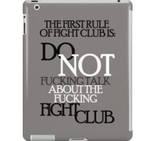 About the fight club iPad Case/Skin
