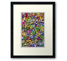 Scrawlour Framed Print