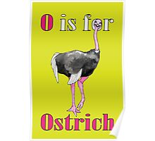O is for Ostrich Poster