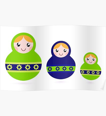 Russian traditional dolls DESIGNERS GIFT collection Poster