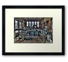 An abandoned powerplant Framed Print