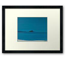 Blue island. Framed Print
