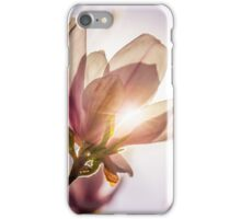 magnolia flowers on a blury background at sunset iPhone Case/Skin