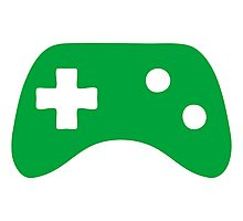 Green Game Controller Icon Photographic Print