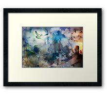 Can't Find My Way Home (image, poem & music) Framed Print