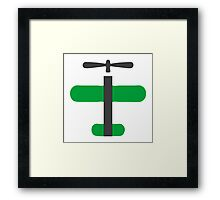 Green Toy Air Plane Icon Framed Print